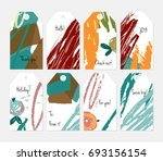 hand drawn creative tags.... | Shutterstock .eps vector #693156154