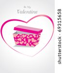 background with gift box  pink... | Shutterstock .eps vector #69315658