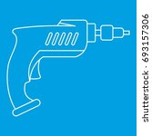 drill icon blue outline style... | Shutterstock .eps vector #693157306