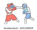 boxing vector illustration....   Shutterstock .eps vector #693158059