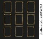 art deco gold frames and... | Shutterstock .eps vector #693159964