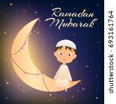 illustration of arabic muslim...   Shutterstock . vector #693161764