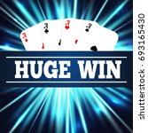 four aces poker cards. huge win.... | Shutterstock . vector #693165430