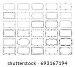 square doodle image frames ... | Shutterstock . vector #693167194