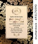 vintage baroque style wedding... | Shutterstock . vector #693170590