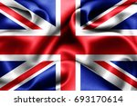 united kingdom flag of silk 3d... | Shutterstock . vector #693170614