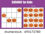 sudoku game for children with... | Shutterstock . vector #693172780