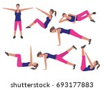 vector fitness and workout... | Shutterstock .eps vector #693177883