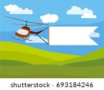 helicopter and advertising... | Shutterstock .eps vector #693184246