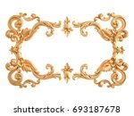 gold ornament on a white... | Shutterstock . vector #693187678
