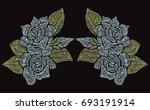 elegant hand drawn decoration...   Shutterstock . vector #693191914