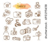 Photo Cameras Hand Drawn...