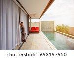 love couple in luxury villa... | Shutterstock . vector #693197950