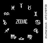 collection of hand drawn zodiac ... | Shutterstock . vector #693198958