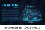 the tractor which consists of...   Shutterstock .eps vector #693199579