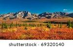 Autumnal Denali Nt Park Scenery ...