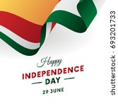 seychelles independence day. 29 ... | Shutterstock .eps vector #693201733