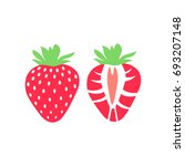 vector strawberry fruit icon... | Shutterstock .eps vector #693207148