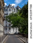 Small photo of The leavy side streets of Paris.