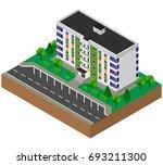 block of flats. house. building....   Shutterstock .eps vector #693211300