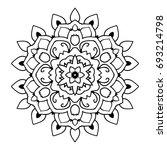 mandala. black and white... | Shutterstock .eps vector #693214798