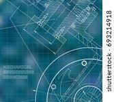blue background. grid.... | Shutterstock .eps vector #693214918