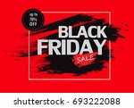 black friday sale banner on red ... | Shutterstock .eps vector #693222088