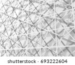 abstract white 3d wallpaper... | Shutterstock . vector #693222604