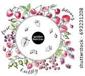 hand drawn ink sketch of garden ... | Shutterstock .eps vector #693231208