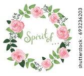 vector flowers beautiful wreath....   Shutterstock .eps vector #693236203