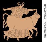 mythological scene old greek