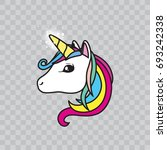 unicorn icon  isolated vector... | Shutterstock .eps vector #693242338