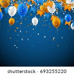 background with blue and orange ... | Shutterstock .eps vector #693255220