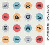 vector illustration set of... | Shutterstock .eps vector #693256708