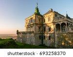 medieval pidhirtsi castle in... | Shutterstock . vector #693258370