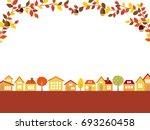 autumn town scape vector... | Shutterstock .eps vector #693260458