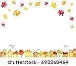 autumn town scape vector... | Shutterstock .eps vector #693260464
