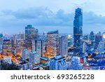 bangkok financial district ... | Shutterstock . vector #693265228
