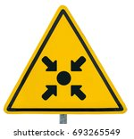 meeting point icon sign on... | Shutterstock . vector #693265549