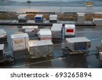 air cargo containers   Shutterstock . vector #693265894