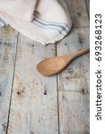 kitchen background with towel... | Shutterstock . vector #693268123
