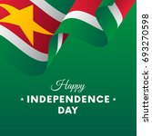 banner or poster of suriname... | Shutterstock .eps vector #693270598