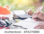 mortgage concepts land and...   Shutterstock . vector #693270880