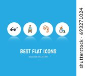 flat icon handicapped set of... | Shutterstock .eps vector #693271024