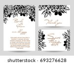 invitation with floral... | Shutterstock .eps vector #693276628