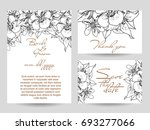romantic invitation. wedding ... | Shutterstock .eps vector #693277066