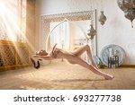 beautiful naked woman... | Shutterstock . vector #693277738