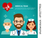 team of health workers icons ...   Shutterstock .eps vector #693277903