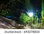 solar lanterns garden light... | Shutterstock . vector #693278833