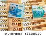 money of kazakhstan tenge   Shutterstock . vector #693285130